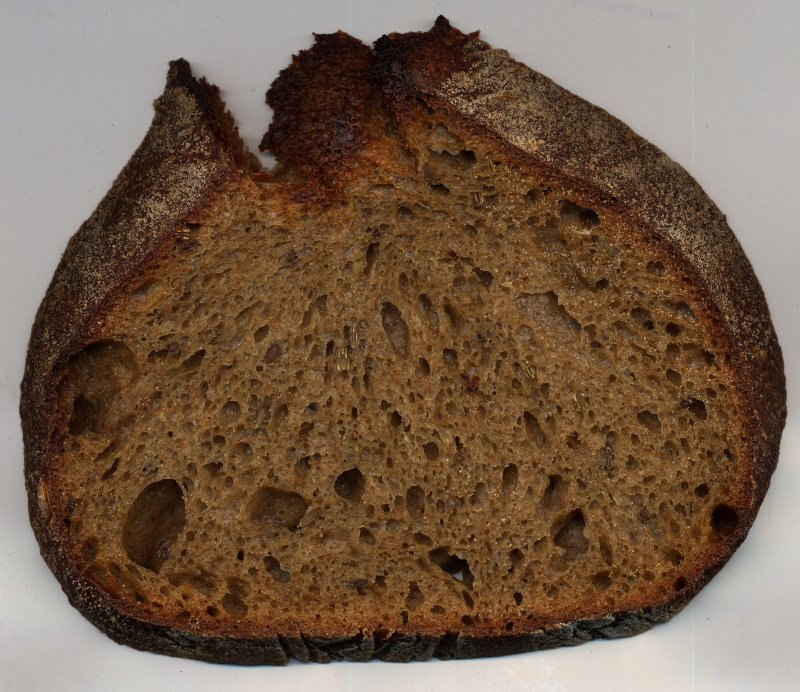 a slice sourdough rye
