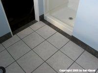 Floor and Bathroom Door