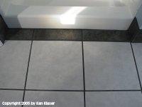 Shower Step Visual Clue