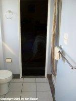 Shower Toilet Facing West