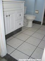Toilet and Cabinet Finished