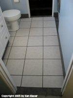 Toilet Floor Facing West